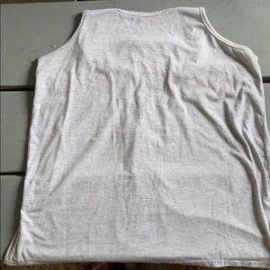 Stripes tank top with crotchet back